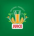 logo fresh juice vector image