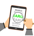 mobile commerce search magnifying glass vector image
