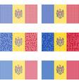Mosaic Moldova flag set vector image vector image