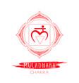 muladhara - root chakra vector image vector image