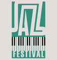 music poster for a jazz festival with piano keys vector image