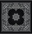 paisley bandana print vector image vector image