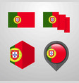 portugal flag design set vector image