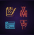 protest action neon light icon vector image vector image