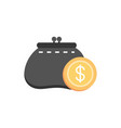 purse coin cash money business finance vector image