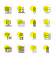 remote icons vector image vector image