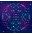 Sacred geometry symbol on space background vector image vector image