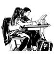 School Kids in Classroom vector image