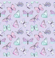 seamless butterfly watercolor pattern vector image