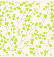 seamless floral pattern with maidenhair fern leaf vector image