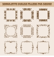 Set of square frames for design vector image