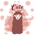 sheep cute animal cartoon vector image
