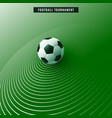 stylish green soccer football background vector image vector image