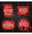 Watercolor Wine Cask chalk vector image vector image