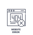 website error line icon concept website error vector image vector image