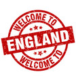welcome to england red stamp vector image vector image