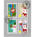 xmas stamps vector image