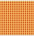 Cartoon hearts seamless pattern vector image