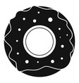 donut icon simple black style vector image