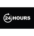 24 hours icon white