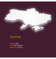 3d map of Ukraine vector image vector image