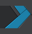 Abstract blue arrow direction on grey design
