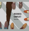 abstract business conflict relationship collapse vector image