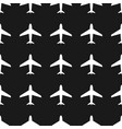 airplane seamless patternwhite on black vector image vector image