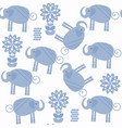 animals elephants seamless pattern it is located vector image vector image