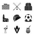 ball icons set simple style vector image vector image