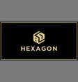 bd hexagon logo vector image vector image