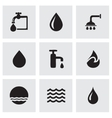 Black water icons set