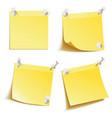 blank notes pinned on corkboard vector image