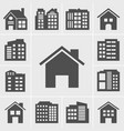 building icons series vector image vector image