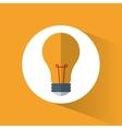 bulb light energy symbol shadow icon vector image