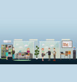 business people in office flat vector image vector image