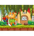 cat student going to school vector image vector image