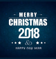 christmas greetings card with darkblue background vector image vector image