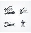 Coffee design elements vector image vector image