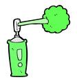 comic cartoon spray can vector image vector image