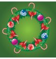 Decorated Christmas Wreath2 vector image vector image