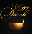 decorative lamp background for diwali 2109 vector image vector image