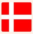 denmark square flag button social media vector image