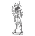 effigy of henry first duke of lancaster is an vector image vector image