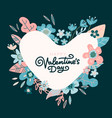floral design concept for valentines day flower vector image