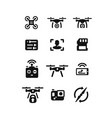 flying drone icons vector image