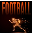football player poly vector image