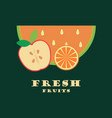 fresh fruit logo vector image vector image