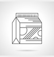 gainer powder flat line icon vector image vector image