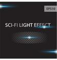 glow light effect stars bursts vector image